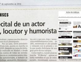 Actor de doblaje, locutor y humorista. Lordán se cuela en la prensa.